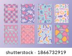 collection of pastel ebook...   Shutterstock .eps vector #1866732919