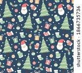 christmas holiday seamless... | Shutterstock .eps vector #1866735736