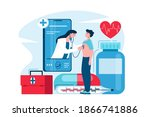 online medical support concept... | Shutterstock .eps vector #1866741886