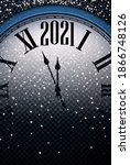 clock hands showing 2021 year... | Shutterstock .eps vector #1866748126