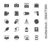 photography flat icons | Shutterstock .eps vector #186677384