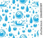 water. seamless pattern with... | Shutterstock .eps vector #1866800389