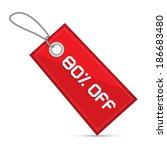 eighty percent off red discount ...   Shutterstock .eps vector #186683480