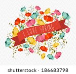 cute spring greeting card with...