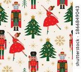Seamless Christmas Tree Pattern ...
