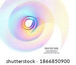 abstract spiral rainbow design... | Shutterstock .eps vector #1866850900
