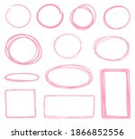hand drawn geometric shapes.... | Shutterstock .eps vector #1866852556