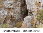deep cave in the mountain ... | Shutterstock . vector #1866858040