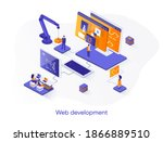 web development isometric web...