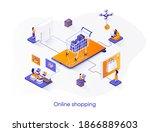 online shopping isometric web... | Shutterstock .eps vector #1866889603