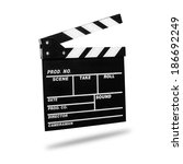 film clapboard. isolated on... | Shutterstock . vector #186692249