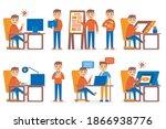 graphic designer profession...   Shutterstock .eps vector #1866938776