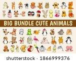 animals cartoon bundle. set of...   Shutterstock .eps vector #1866999376