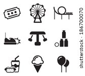 amusement park icons | Shutterstock .eps vector #186700070