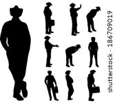 vector silhouette of... | Shutterstock .eps vector #186709019