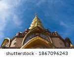 Beautiful  Golden  Pagoda  With ...