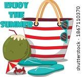 summer vector banner design... | Shutterstock .eps vector #1867110370