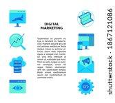 digital marketing concept... | Shutterstock .eps vector #1867121086