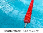 swimming pool red lane and wave | Shutterstock . vector #186712379