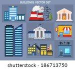modern industrial flat... | Shutterstock .eps vector #186713750