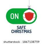 safe christmas concept. face... | Shutterstock .eps vector #1867138759