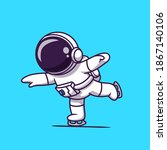 cute astronaut playing ice...   Shutterstock .eps vector #1867140106