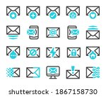 mail and email icon set vector... | Shutterstock .eps vector #1867158730