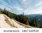 hiking path in the mountains ... | Shutterstock . vector #1867160920