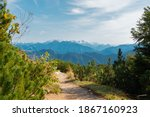 mountain hiking trail in the... | Shutterstock . vector #1867160923