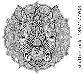 rhino. rhinoceros. ornamental...   Shutterstock .eps vector #1867177903