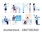 time management. business... | Shutterstock . vector #1867181563