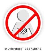 stop violence sticker  ... | Shutterstock . vector #186718643
