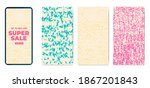 phone template set hand drawn... | Shutterstock .eps vector #1867201843