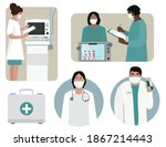 a set of male and female doctor ...   Shutterstock .eps vector #1867214443