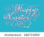 season's greetings hand... | Shutterstock . vector #186721850