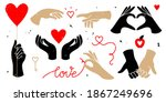 isolated set of hands and heart ... | Shutterstock .eps vector #1867249696