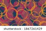 allover hand drawn circles...   Shutterstock .eps vector #1867261429