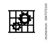 use guards black icon  vector...   Shutterstock .eps vector #1867272163