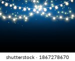 sparks and golden stars glitter ... | Shutterstock .eps vector #1867278670