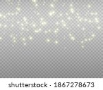 sparks and golden stars glitter ... | Shutterstock .eps vector #1867278673