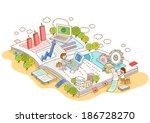 illustration of business people ... | Shutterstock . vector #186728270
