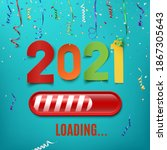 happy new year 2021. colorful... | Shutterstock . vector #1867305643