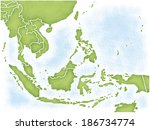 map of southeast asia | Shutterstock . vector #186734774