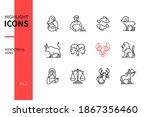 zodiac signs   line design...   Shutterstock .eps vector #1867356460