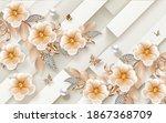 3d Illustration Orange Flower ...