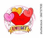 illustration of heart shape... | Shutterstock . vector #186737930