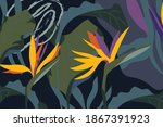 artistic seamless pattern with...   Shutterstock .eps vector #1867391923