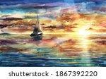 Beautiful Watercolor Sea...