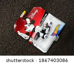 Small photo of BEKASI, INDONESIA - DECEMBER 5th, 2020 - steamboat car willie mickey mouse disney from HotWheels