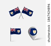 anguilla 3d flag map and vector ... | Shutterstock .eps vector #1867424896